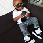 Actor, Jim Iyke shares cute photo of his son rocking his shades