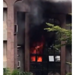 Fire Guts NIPOST Headquarters Abuja