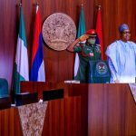 Buhari & Osinbajo Pictured At FEC Meeting At The State House Council Chambers
