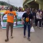 Ogun Students Protest Hike In Fuel Price, Compose Song For Buhari (Video)