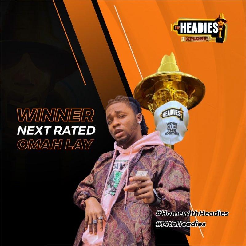 Omah lay wins the 14th Headies 'Next Rated' artist award