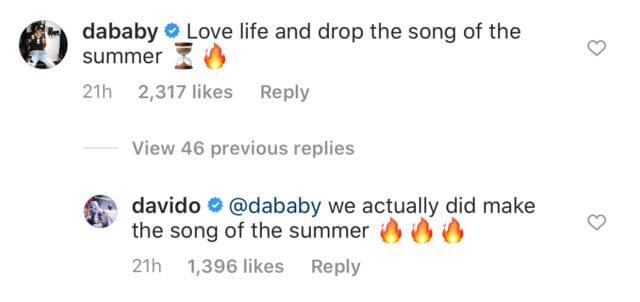 Davido's post