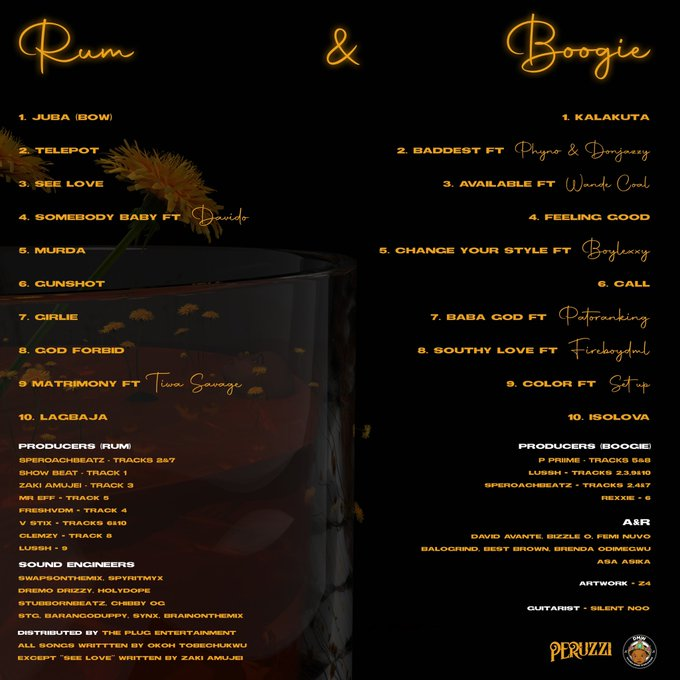 Peruzzi – Rum & Boogie Album Tracklist