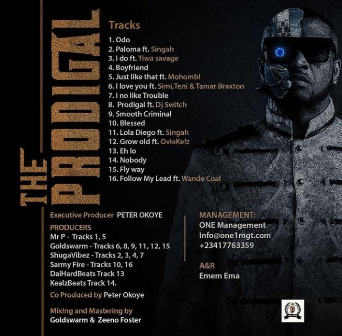 Mr P – Prodigal album tracklist