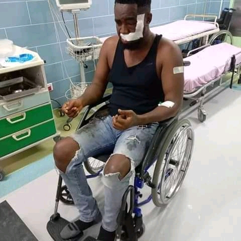 Popular Nigerian Rapper Survives Ghastly Motor Accident (Photos)